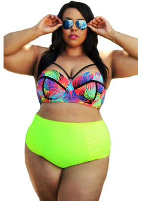Chest Caged Swimwear Two Piece Bathing Suit Bikinis
