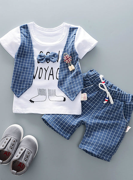 Kids Bowknot T-Shirt Shorts 2pcs/Sets Toddler