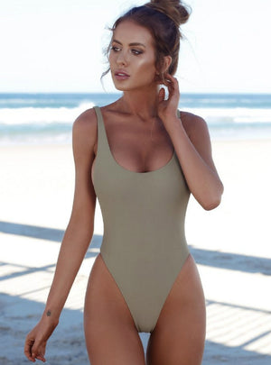 One Piece Swimwear Solid Sexy 2018 Bikini Swimwears