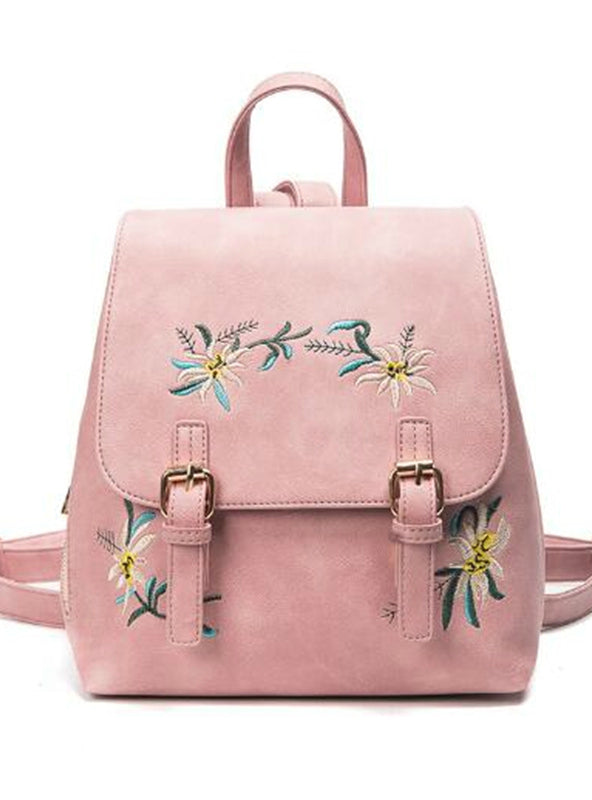 Leather Backpacks Female School Bags For Girls
