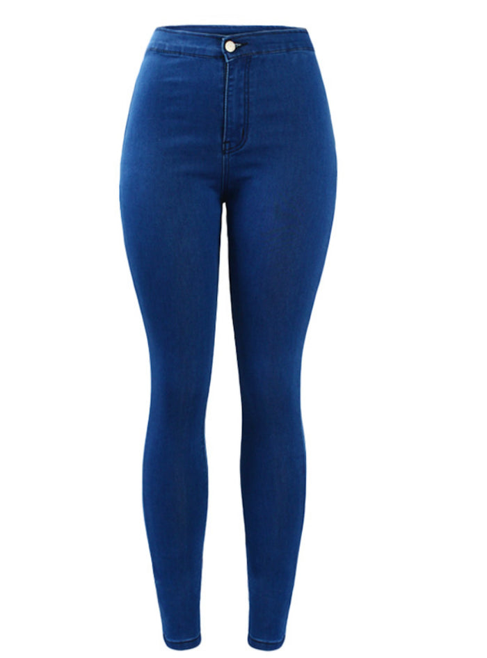 High Waist Skinny Denim Pants Jeans For Women