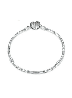 925 Sterling Silver Chain Snake Bracelet & Bangle