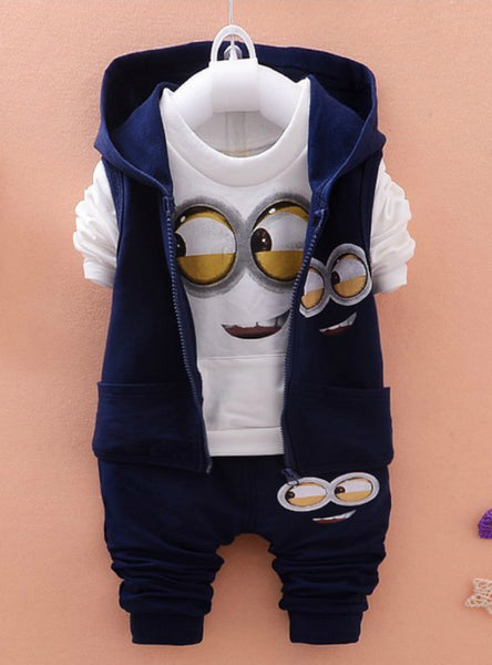 Kids Vest+T Shirt+Pants 3 Pcs Sets Children Suits