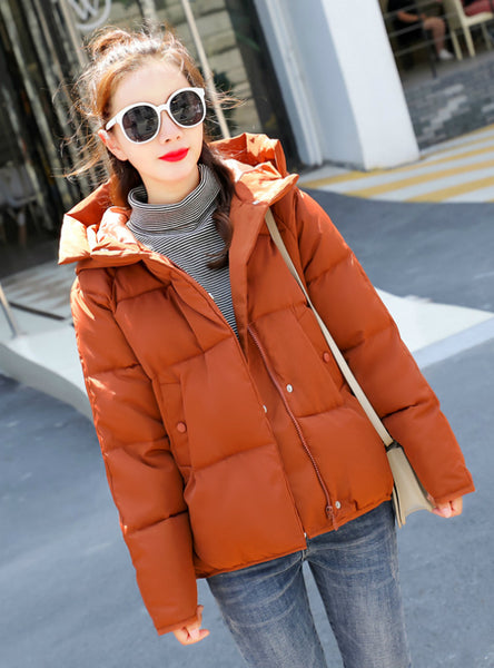 Women's Hooded Winter Loose Cotton-padded Jacket