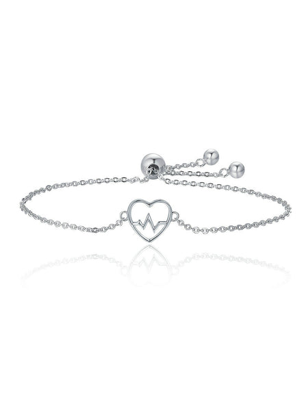 925 Sterling Silver Of Love Sweetheart Heart Bracelet