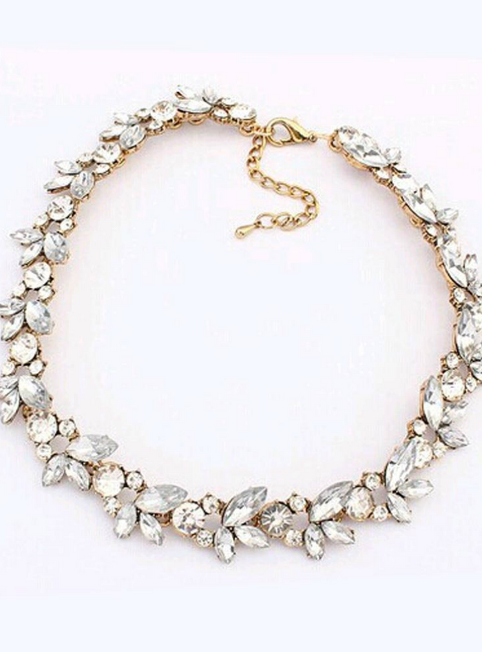Accessories Bohemia Style Crystal Flower Choker
