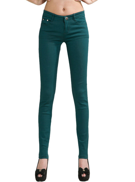 Pencil women Pants Girls Sweet Candy Color