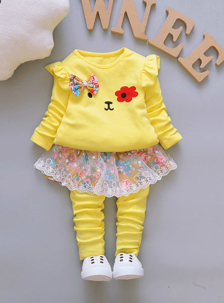 Skirt Girls Clothing Spring And Autumn 2Pcs Kids