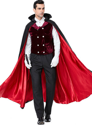 Dracula Cosplay Earl Of Halloween Vampire Costume