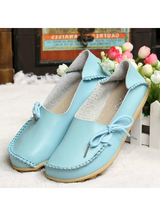 Leather Shoes Mother Loafers Soft Leisure Flats
