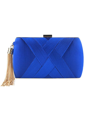 Women Fashion Tassel Clutches Evening Bags Handbag
