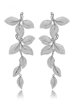Leaf Shape Drop Earrings Statement Tiny Noble