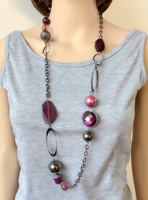 Long Bohemia Style Fashion Necklace