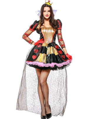 Halloween Queen Dresses Alice Queen of Hearts Cosplay