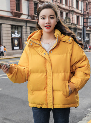 Women Coat Loose Cotton-padded Short Jackets