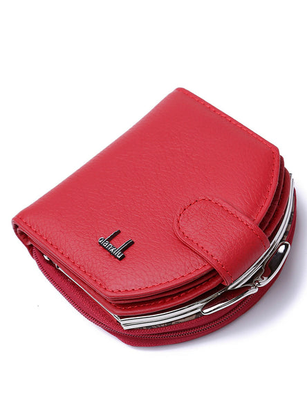 Women's Semicircle Purse Leather Buckle Leather Bag