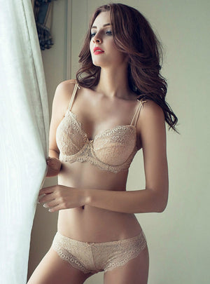 Mesh Sexy Female Lace Bra Underwear Bra Set