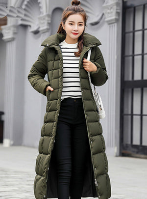 Down Coat women Long Down Jacket Women Winte