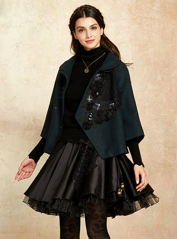Women's Winter Coat Elegant Cloak A-Line