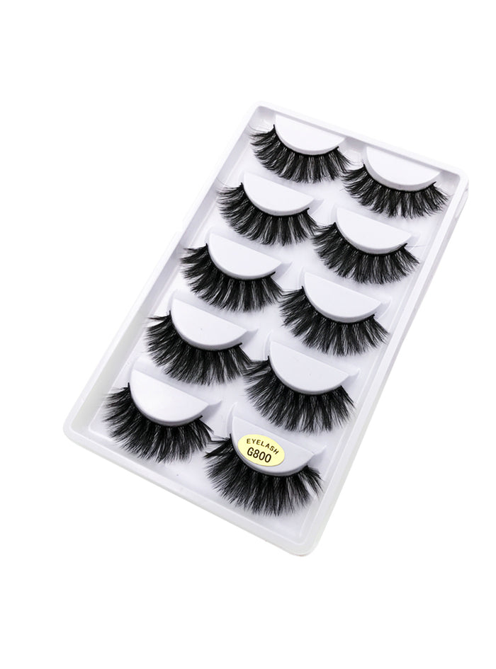 5 Pairs Natural false eyelashes thick 3d mink
