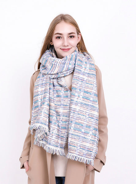 Plaid Scarf Women's Long Warm Cashmere