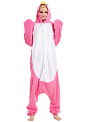 Pink Penguin Pajama Winter Women Sleepwear