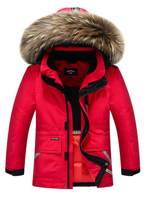 Winter Boys Duck Down Jacket Girls Outerwear