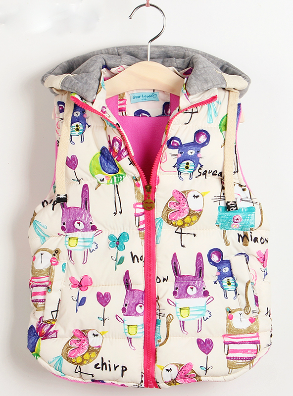 Winter Outerwear&Coats Animal Graffiti Thick