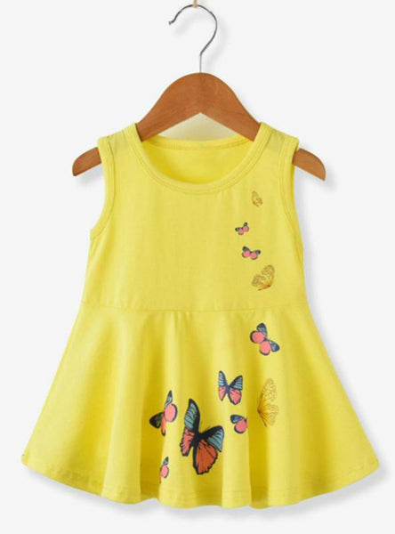 Cotton Clothes Baby Girl Butterfly Princess Dresses
