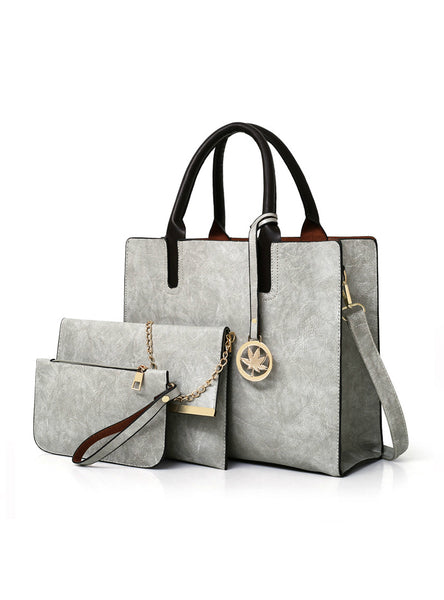 Ladies Shoulder Bag Handbag+Messenger Bag+Purse