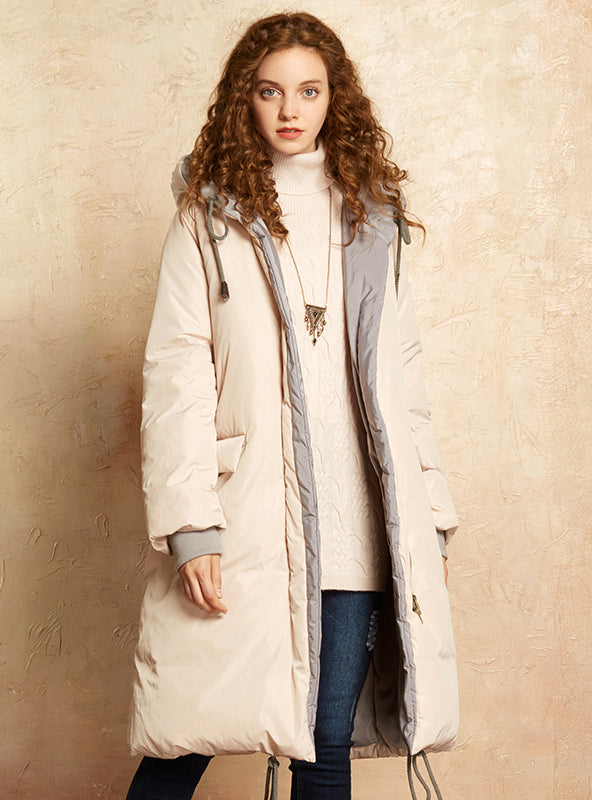 Women Long Jacket 2017 Hooded Down Coat