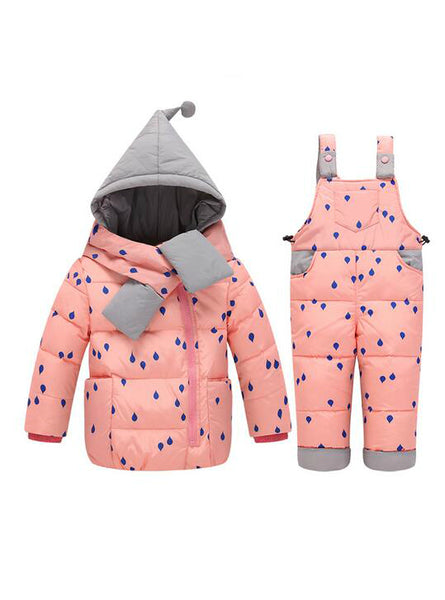 Boys Girls Winter Children's Sets Baby Dot Ski Suit