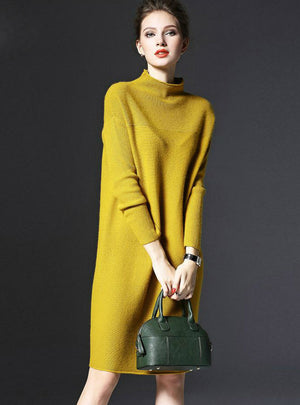 Sweater Dress Female Knittied Loose Dress