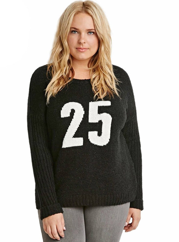 Basic Preppy Style Sweater Pullovers Long Sleeve