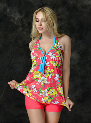 Plus Size Swimwear Floral Women Beach Two Pieces