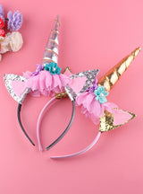 1PC Handmade Kids Party Gold Unicorn