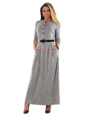 Solid Dress Big Sizes Long Dress Maxi Party Dress