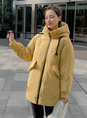 Women Fashion Long Parkas Padded Jacket Coat