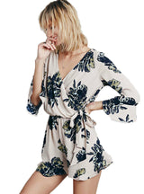 Floral Printed Women Sexy Casual Play Suit