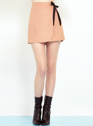 Suede Skirt Pants Ladies High Waist Skirt Pants