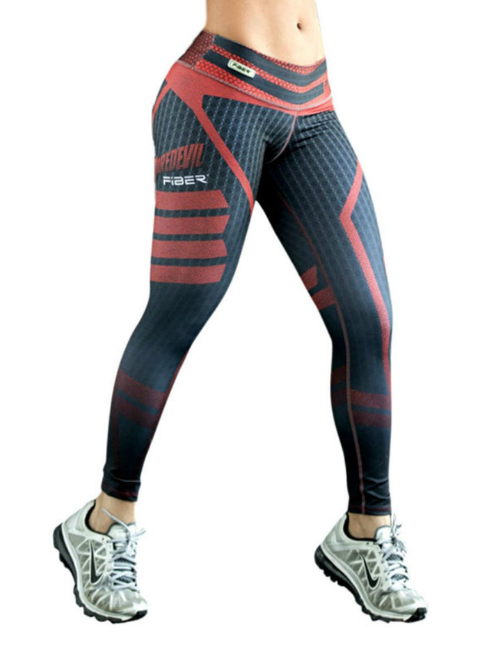 Women Printed Sporting Pants Slim Leggings Drop