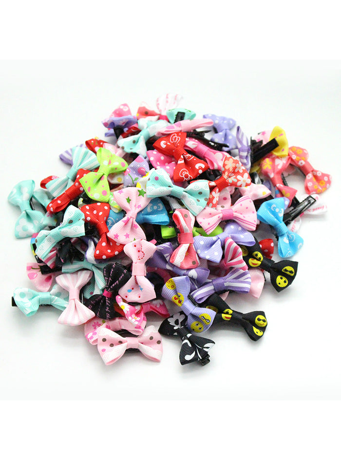 20 Pcs/ Lot Small Mini 3cm Bow Hairgrips