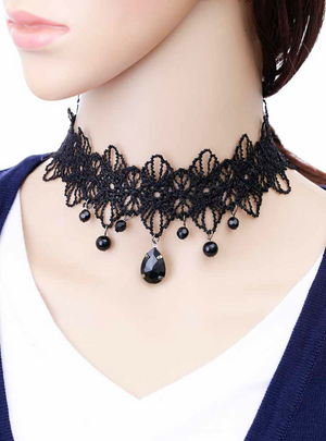 Handmade Jewelry Gothic Retro Lace Necklace