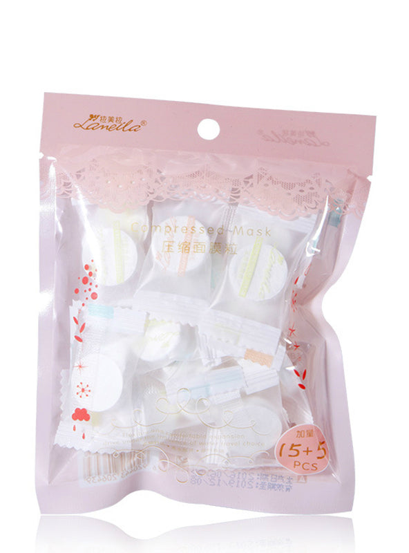 20 pcs compress facial mask whitening