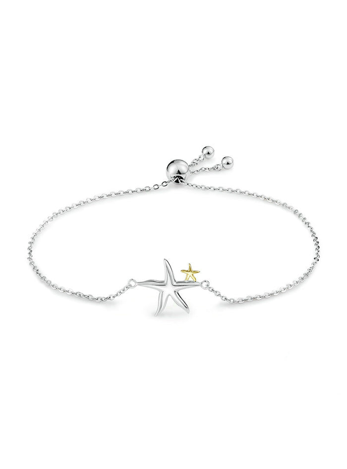 925 Sterling Silver Starfish Fairy Tale Chain Link