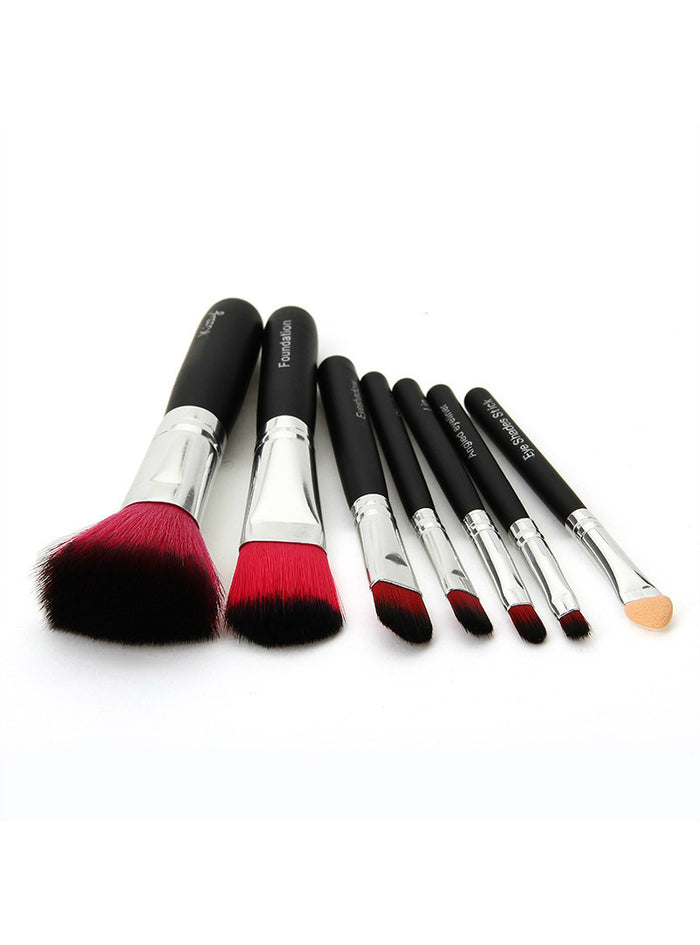 1set Hello Kitty pink black 7Pcs/set Mini Makeup brush