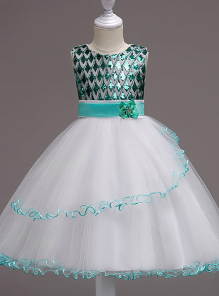 Sequin Sleeveless Princess Dress Girls Clothes