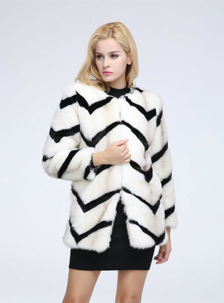 Imitation Mink Medium And Long-Sleeved Fur Coat