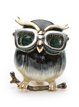 Owl Brooches For Women Metal Bird