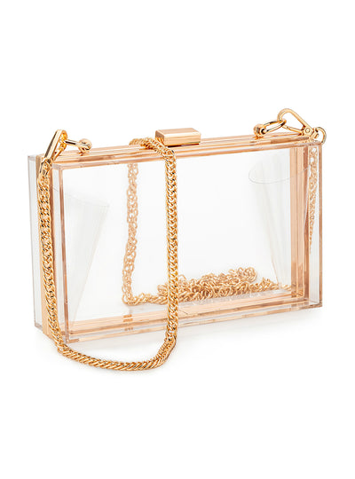 Women Acrylic Clear Clutch Transparent Crossbody Purse